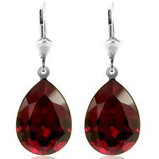 Ohrringe mit Kristallen von Swarovski® Rot Silber Tropfen NOBEL SCHMUCK