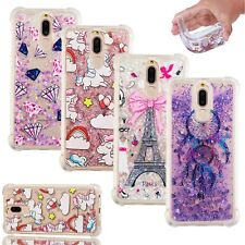 Pattern Dynamic Liquid Glitter Quicksand TPU Case Cover For Various Smartphones