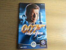 NINTENDO GAMECUBE NOTICE 007 NIGHTFIRE EN FRANCAIS