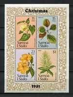 25225) Samoa I Sisifo 1981 MNH New Flowers Christmas