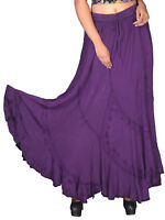 Womens plus size 14 to 28    Skirt Purple full length romantic / renaissance