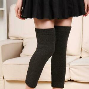 1 Pair Women Cashmere Wool Knee Warmers Leg Warm Thigh High Socks Legging