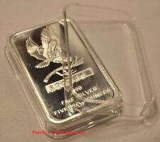 1 Air-tite Direct Fit Capsule Holder for 5oz Silver Bar Ingot Clear Acrylic Case