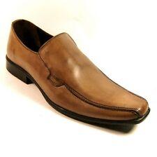 HX LONDON Mens Formal Tan Leather Slip-on Shoes Size UK 7 EU 41