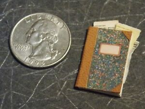 Dollhouse Miniature Office Ledger Book 1:12 one inch scale A35 Dollys Gallery
