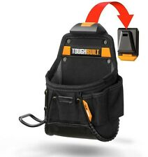 TOUGHBUILT Project Pouch With Hammer Loop Black Heavy Duty Storage with Cliptech
