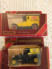 Matchbox Model Of Yesteryear 1927 Talbot Van x2 - see description