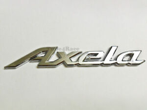 Axela Logo Emblem Silver Mazda OEM Genuine Stock trunk  badge decal symbol 626