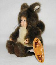 Anne Geddes Doll Baby Squirrel Plush Bean Bag 1998 Stuffed NEW Tags