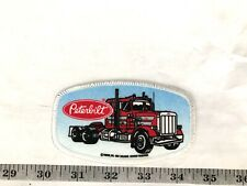 Peterbilt Oval Trucks Red Blue And White Edge Embroidered Iron-On Patch-Nice!