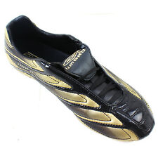 Umbro Football BOOTS Mens Sports Studs Revolution A-fg UK Size 7.5 Black & Gold
