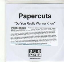 (CA491) Papercuts, Do You Really Wanna Know - DJ CD