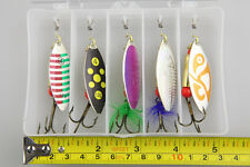 5Pcs Fishing Lure Spinners Spoons Bait Ideal For Pike Trout Salmon Fishing 12g