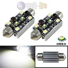 2x High Power White CAN-bus 15W CREE 5050 LED 42MM Festoon Bulbs Lamps 211-2 578