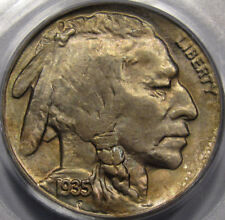 1935-S Buffalo Nickel.PCGS MS-64.Great Strike,Low Coinage. Full Toning++