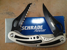SCHRADE AVATAR AV22 2-BLADE LINERLOCK KNIFE USA MADE COLLECTIBLE BOX