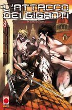 manga L'ATTACCO DEI GIGANTI N. 8 RISTAMPA - nuovo italiano - panini planet manga