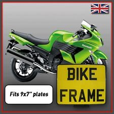 Motorcycle Motorbike Motor Cycle Bike Number Plate Surround Frame Holder 9x7""