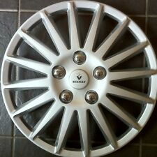 """New Alloy Look 15"""" Wheel Trims for the Renault Clio in silver with logos🚘"""