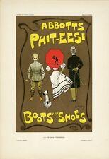 """""""BOOTS & SHOES ABBOTTS PHIT-EESI"""" Planche originale entoilée Litho Dudley HARDY"""
