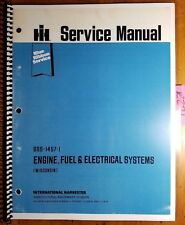 IH International VH4D VG4D Wisconsin Engine Fuel & Electrical Service Manual '75