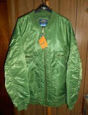 NEW Men EMPIRE BIGLAND Brand Army Green Zip Up Casual Jacket Size Big & Tall 6XL