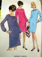 LOVELY VTG 1960s DRESS McCALLS Sewing Pattern 12/32