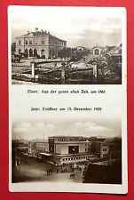 AK MEISSEN in Sa. um 1928 Alter und neuer Bahnhof   ( 13234