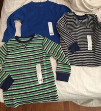 Lot of 3 J. Khaki Blue Long-Sleeve Crew Neck T- Shirts Size 5 -- NWT