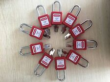 10 lockout tagout padlocks keyed different KD safety LOTO