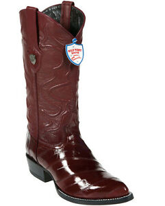 Men's Wild West Genuine Eel Cowboy Western Boots J Toe