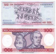 Brazil 100 Cruzeiros 1984 P-198b Banknotes UNC