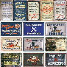 Blechschilder Sprüche Schild 20x30cm Deko Werkstatt Garage Kfz Handwerker Gesetz