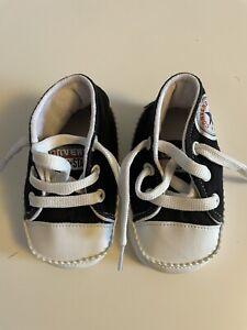 Converse All Stars Baby Unisex Pram Shoes Black Inside 11cm