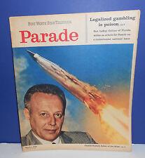 1959 FT WORTH STAR TELEGRAM NEWSPAPER PARADE MAGAZINE - CHARLIE BOSSART