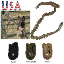 New listing Dog Leash Police Tactical Training Heavy Duty Nylon Bungee Military w/Handle Usa