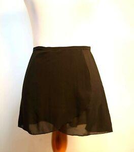 Black Mirella Ballet Dance Wrap Skirt One Size