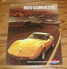 1973 Chevrolet Corvette Sales Brochure 73 Chevy