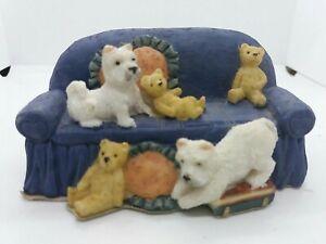 Beautiful Regency Fine Arts Westies on the Sofa West Highland Terrier Ornament