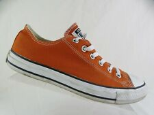 CONVERSE All-Star Low Burnt Orange Sz 8 Men (10 Women) Canvas Sneakers