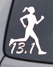 13.1 HALF MARATHON RUNNER Vinyl Decal Sticker Window Wall Bumper Running Woman