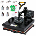 8 in 1 T Shirt Heat Press Machine w 15x15 Heat Pad for Shirts Mugs Plates More