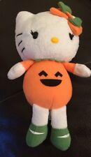 Hello Kitty Plush Dressed As Jack O' Lantern