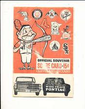 1963 Cleveland Indians vs Pittsburgh Pirates unscored program