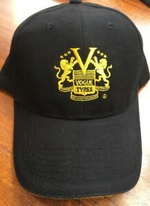 NEW VOGUE TYRES TIRE BLACK GOLF BASEBALL CAP HAT CREST EMBROIDERED CADILLAC CADY