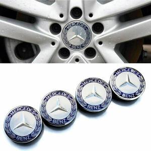 4X 75mm Wheel Center Caps Hubcap Emblem Logo For Mercedes Benz Wheel A1714000025