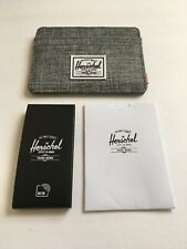 New Herschel Supply Men's Street Style Card Holder Wallet RFID Protect Gray Flec