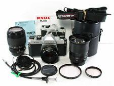 PENTAX K1000 35mm SLR Film Camera with 3 Lenses, Instruction Manual & More