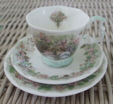"Miniature Royal Doulton ""Brambly Hedge"" 4 Seasons Summer Cup, Saucer & Plate"