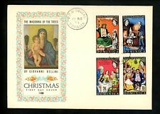 Postal History Dominica FDC #304-307 Christmas Charles Dickens 1970